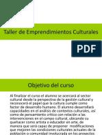 Taller de Emprendimientos Culturales-P.ppt