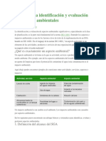 4 Pasos en La Identificación y Evaluación de Aspectos Ambientales