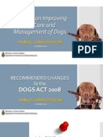 Proposed Changes to the Dogs Act 2008