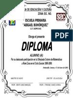 Diploma Sainz Jromo