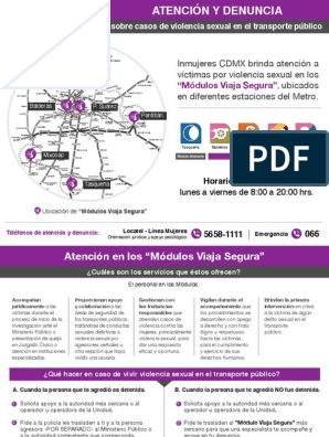 Programa Módulos Viaja Segura Inmujeres Cdmx Gobierno