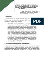 Iñigo Carrera J. 2012a. Acerca Del Carácter de La Relación Base Económica