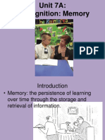 Psychology - Cognition Memory