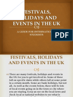 Festivals, Holidays and Events in the Uk