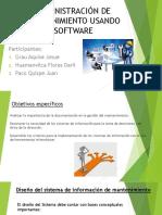 Administración de Mantenimiento Usando Software