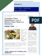 Comidas Para Diabéticos_ 3 Menús !
