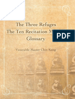 The Three Refuges the Ten Recitation Method Glossary