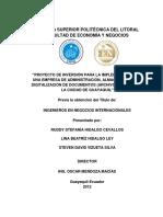 Proyecto de Implementacion de Una Empresa de Almacenamiento, Administracion y Digitalizacion de d