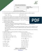 2017.- Guía Ecuaciones Cuadráticas