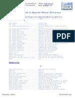 Railcar Dictionary Eng Spa