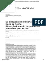 Da Delegacia Da Mulher à Lei Maria Da Penha_ Absorção_tradução de Demandas Feministas Pelo Estado