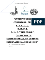 Jurisprudencia Comentada de La OMPI,CIADI,OMC,Mercosur