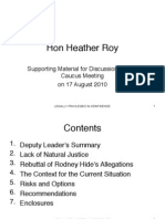 ACT Party Heather Roy Dossier