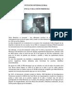 """Petición Internacional """"Justicia para Odón Mendoza"""""""