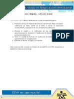 Evidencia 4 Registro y Codificacion de Datos.