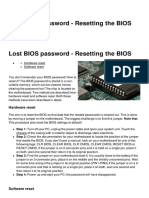 Lost Bios Password Resetting the Bios 1192 Mk9mem