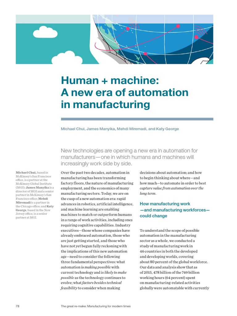 Human Plus Machine a New Era of Automation in Manufacturing