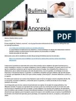 Trabajo Anorexia y Bulimia.