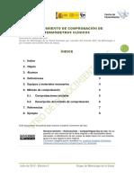 Procedimiento de Comprobación de Termómetros Clínicos. 2013.