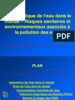 1. Problématique de l'Eau Dans Le Monde Et Devenir Des Polluants Dans l'Environnement
