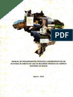 Manual de Procedimentos Técnicos e Administrativos de Outorga de Direito de Uso de Recursos Hídricos Da Agência Nacional de Águas