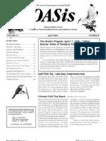 April 2008 OASis Newsletter Orange Audubon Society