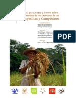 Manual Para Juezas y Jueves Sobre Proteccion de Los Derechos de Las Campesinas y Campesinos