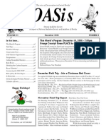December 2008 OASis Newsletter Orange Audubon Society