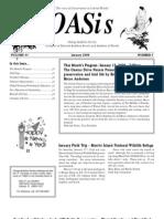 January 2009 OASis Newsletter Orange Audubon Society