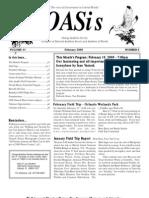 February 2009 OASis Newsletter Orange Audubon Society