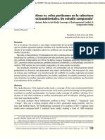 Roles Contributivos Versus Roles Partisanos en La Cobertura de Conflictos Sociambientales -Un Estudio Comparado