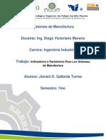 Indicadores o Parámetros Para Los Sistemas de Manufactura