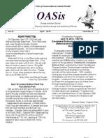April 2010 OASis Newsletter Orange Audubon Society