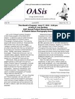 June 2010 OASis Newsletter Orange Audubon Society
