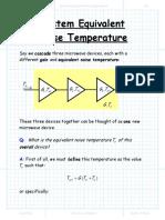 System Equivalent Noise Temperature