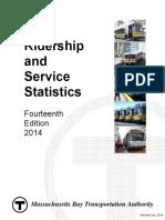 2014 Bluebook 14th Edition(1) MBTA Statistics