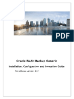 Oracle RMAN Generic Backup