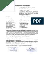 Acta de Verificación y Recepción de Obra