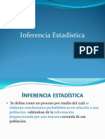 INFERENCIA ESTADISTICA 2016