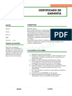 Certificado de Garantia Final