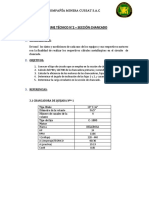 INFORME TECNICO CHANCADORA