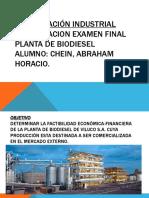 PLANTA DE BIODIESEL FINAL ORGANIZACIÓN INDUSTRIAL.pptx
