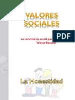 Valores Sociales