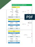 Cálculos Previos concreto armado