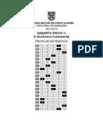 2014 Cmpa Matemática Gabarito Prova 1