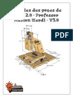 Medidas Das Peças Da CNC 2.0 Versão 3 - Professor Marlon Nardi