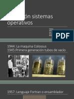 Evolución sistemas operativos