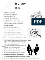 Job Interview Questions TEMA 9