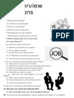 Job Interview Questions TEMA 9