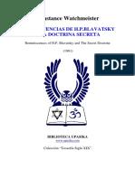 Watchmeister, Constance - Reminiscencias de H. P. Blavatsky y la Doctrina Secreta.pdf
